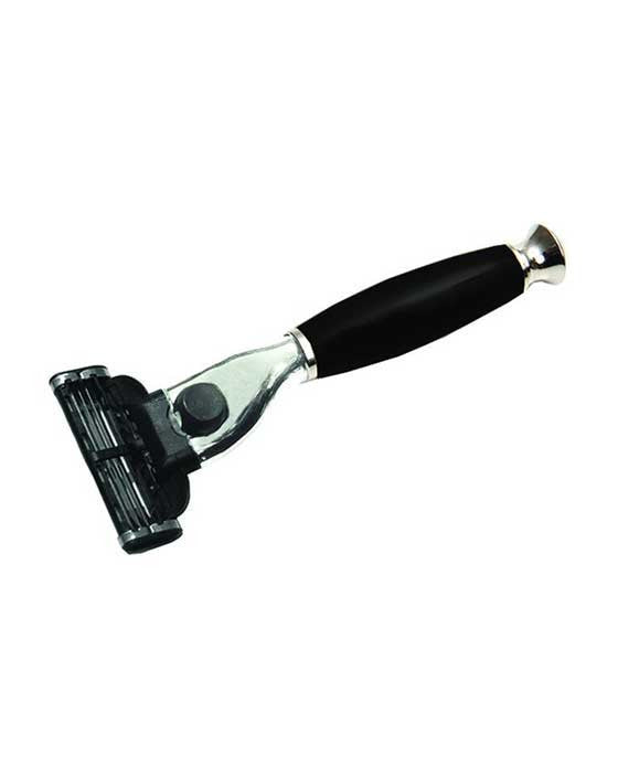 PureBadger Collection Shaving Razor Black Handle - Mach3 Head,