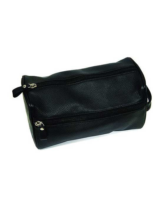PureBadger Collection Black Pebble Leather Dopp Bag,useful for storing men's grooming tools for travel,