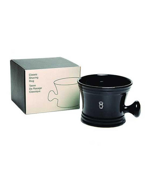 PureBadger Collection Shaving Mug, Apothecary Style, Black Porcelain, Fits Standard 100g Shaving Soap,