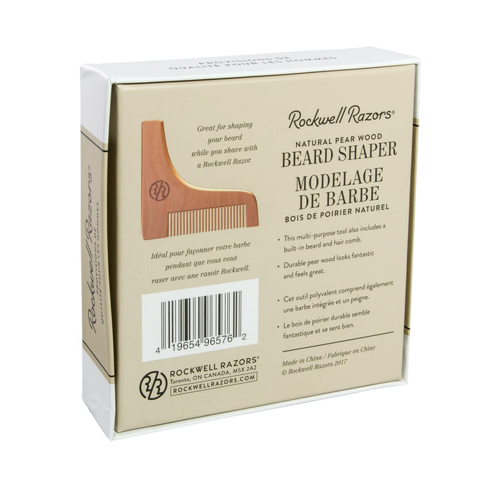 Rockwell Razors Beard Shaper Natural Pear Wood