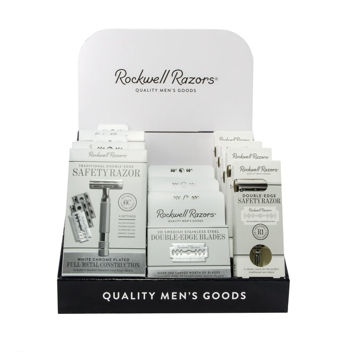 Rockwell Razors Shave Hardware Display Bundle,
