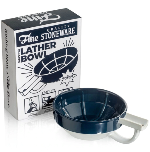 Fine Accoutrements Lather Bowl - Blue/White