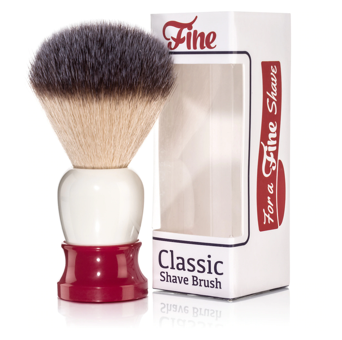 Fine Accoutrements Classic Shaving Brush -Red/White