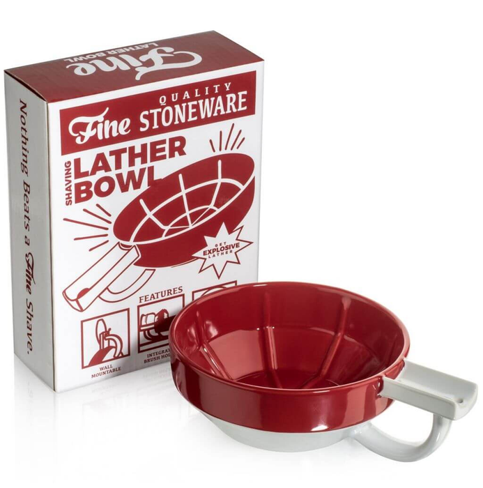 Fine Accoutrements Lather Bowl - Red/White