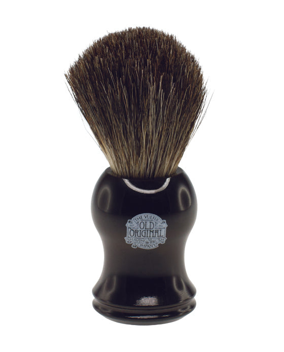 Progress Vulfix Pure Badger Shaving Brush, Black Handle,