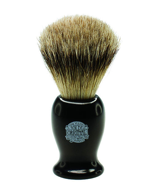 Progress Vulfix Super Badger Shaving Brush, Medium Black Handle,
