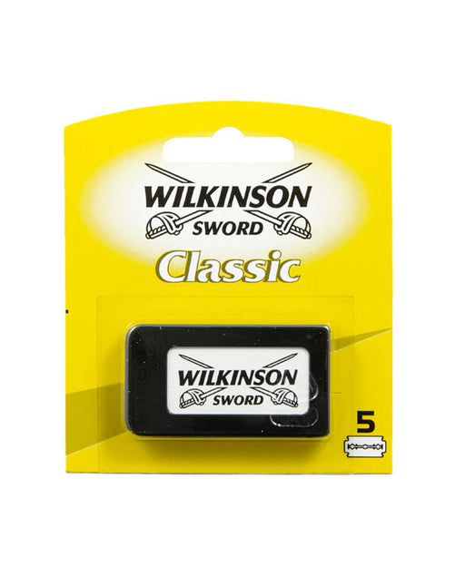 Wilkinson Sword Classic Double Edge Safety Razor Razor Blades (5 Blades/Pack), Razor Blades