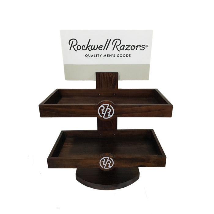 Rockwell Razors Empty Retail Two-Level Wood Display,