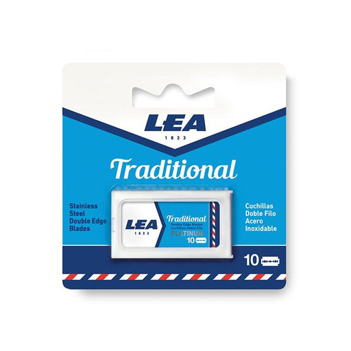 Lea Stainless Steel Double Edge Blades Refill (10 pack) Pack of 6