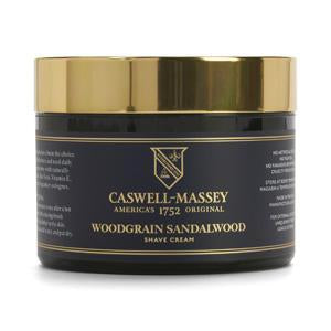 Caswell Massey Heritage Woodgrain Sandalwood Shave Cream in Jar