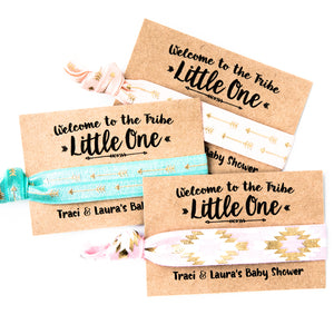 LITTLE ONE Bohemian Baby Shower Hair Tie Favors