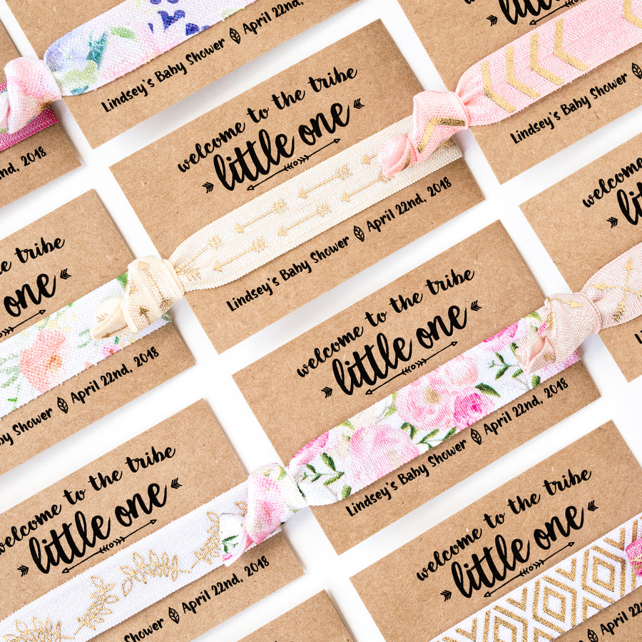 BOHO Little One Baby Shower Hair Tie Favors