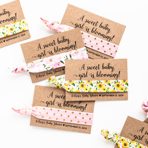 Sunflower Baby Shower Favors | A Sweet Baby Girl is Blooming!