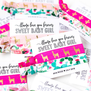 LLAMA Love You Forever | Sweet Baby Girl Shower Favor