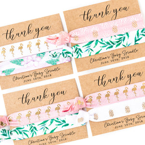 THANK YOU | Tropical Baby Sprinkle Hair Tie Favors