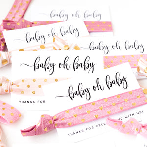 Baby Oh Baby! Polka Dot Baby Shower Hair Tie Favors
