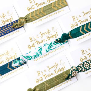 It's a Jungle Out There Baby! Shower Hair Tie Favors