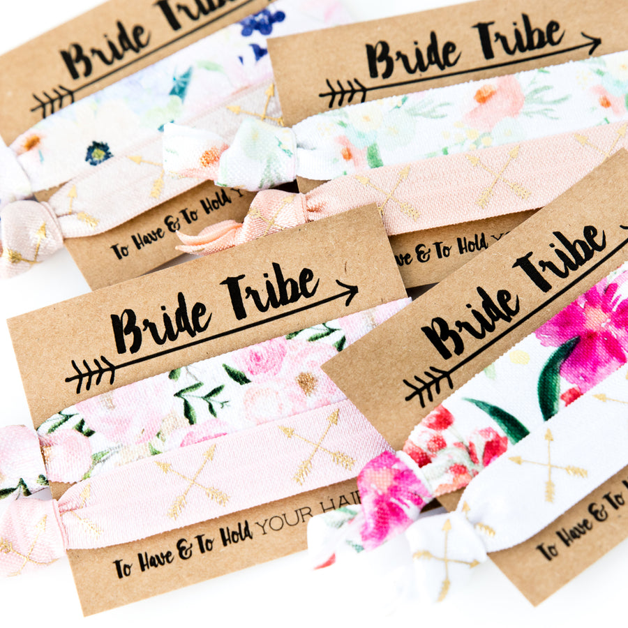 BRIDE TRIBE Floral Bohemian Hair Tie Favors