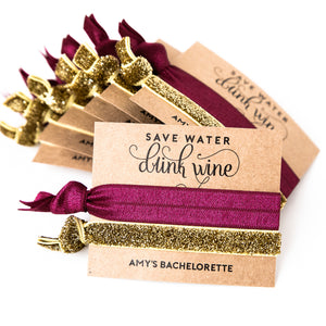 DRINK WINE Personalized Bachelorette Party Favors
