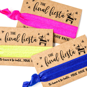 FINAL FIESTA Bachelorette Hair Tie Favors