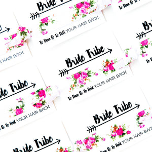 ROSE Floral Bride Tribe Hair Tie Favors