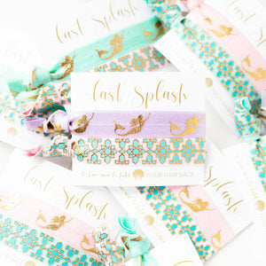 PASTEL MERMAID Last Splash Bachelorette Hair Tie Favors