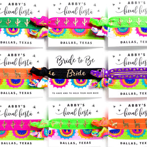 FINAL FIESTA | Personalized Bachelorette Hair Tie Party Favors