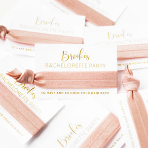 Personalized Bachelorette Hair Tie Favors