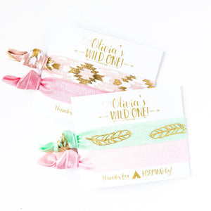 WILD ONE Pastel Birthday Hair Tie Favors