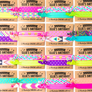 DANCE PARTY Birthday Hair Tie Favors