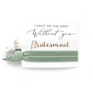 Bridal Party Proposals | 2 Hair Tie Favor Card