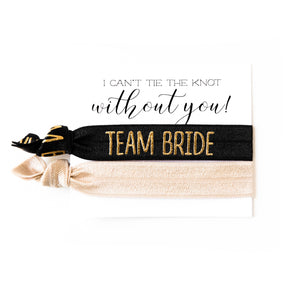 Team Bride Proposal | 2 Hair Tie Favor Card