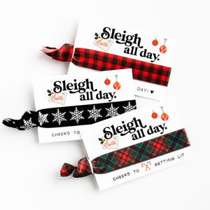 Holiday Gift Tag Hair Tie Favors