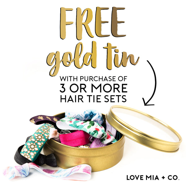 Love Mia Co Hair Tie Favors Bridesmaid Proposal Gifts