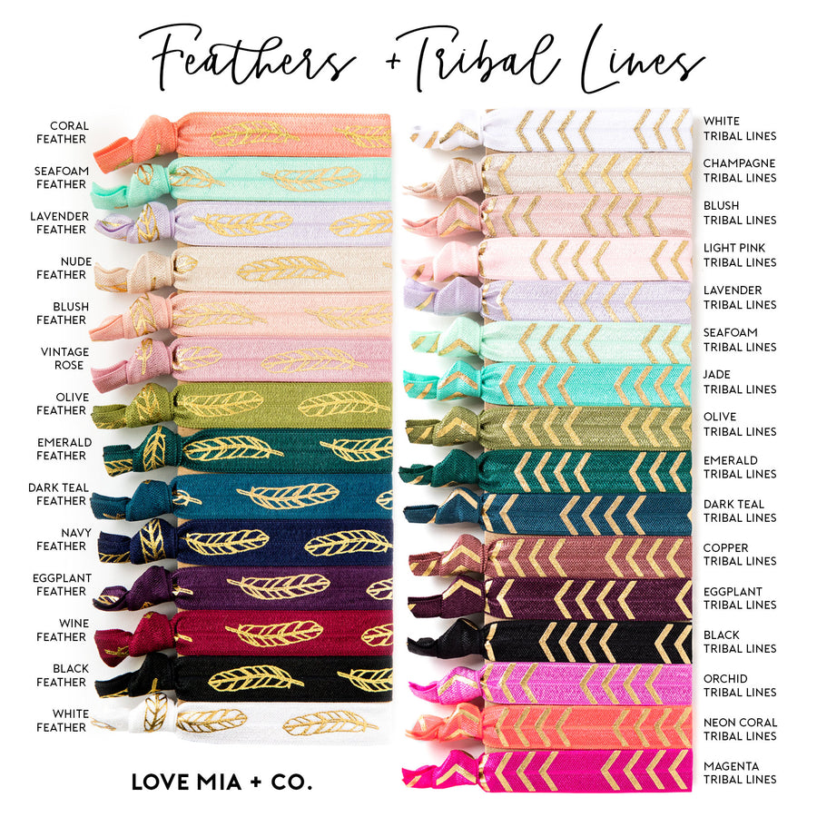 DOUBLE FAVORS | Pattern + Solid Wholesale Hair Tie Favor