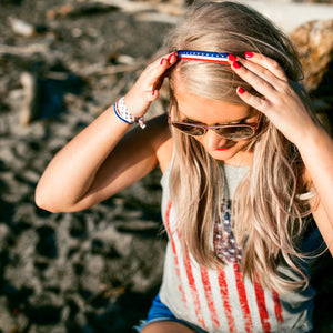 PATRIOTIC Print Elastic Headbands | Fourth of July Hair Accessories