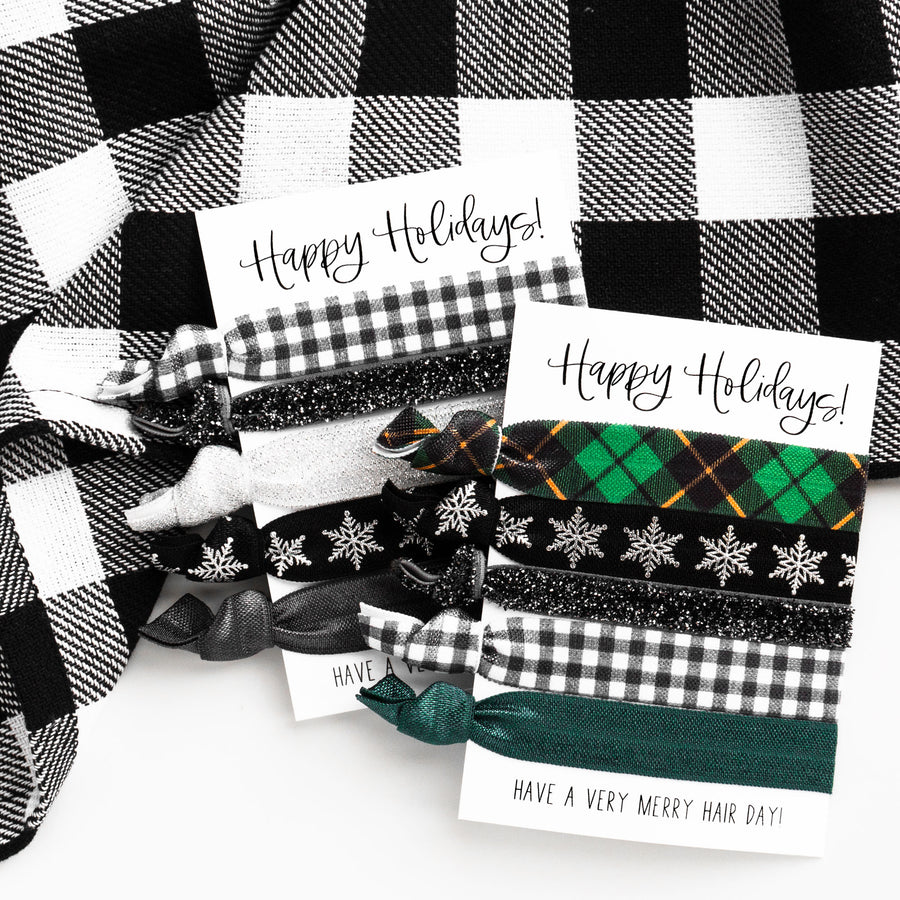 Holiday Hair Tie Stocking Stuffer | Elastic Hair Ties for Coworkers, Friends, Teens + Girls