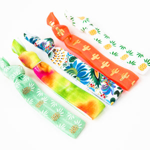 TEQUILA SUNRISE | Tropical Hair Tie Set