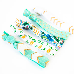 TROPICAL PINEAPPLE | Hair Tie Set