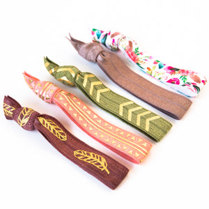 WILD FEATHER | Hair Tie Set