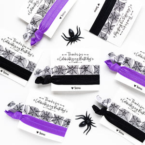 Halloween Birthday | Personalized Hair Tie Favors
