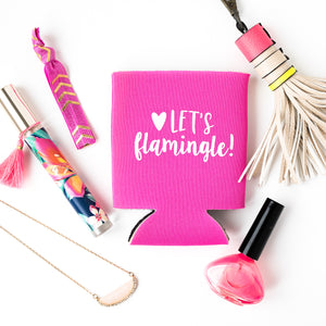 LET'S FLAMINGLE GIFT SET | Hair Tie Favor, Tattoo + Drink Cooler