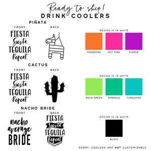 Fiesta Bachelorette Drink Coolers | Nacho Average Bride