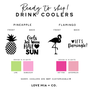 PINEAPPLE + FLAMINGO || Drink Coolers