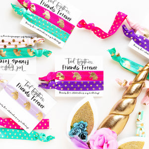 UNICORN Birthday Party Pack | DIY Hair Tie Favors