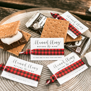 Plaid Flannel Fling Before the Ring | Bachelorette Hair Tie Favors