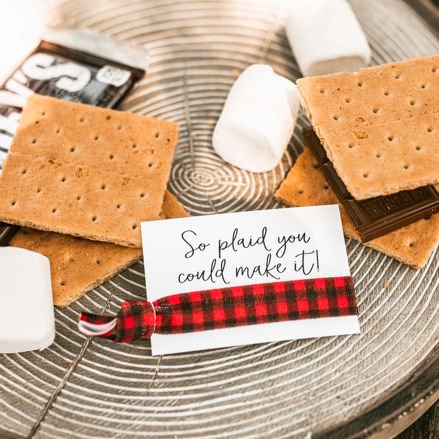 So Plaid You Could Make It! Plaid Bachelorette Hair Tie Favors