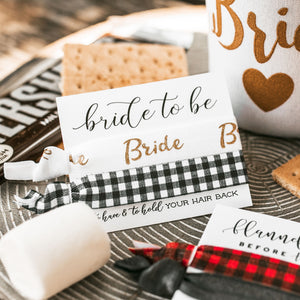 Bride to Be | Flannel Fling Plaid Bachelorette Hair Tie Favor