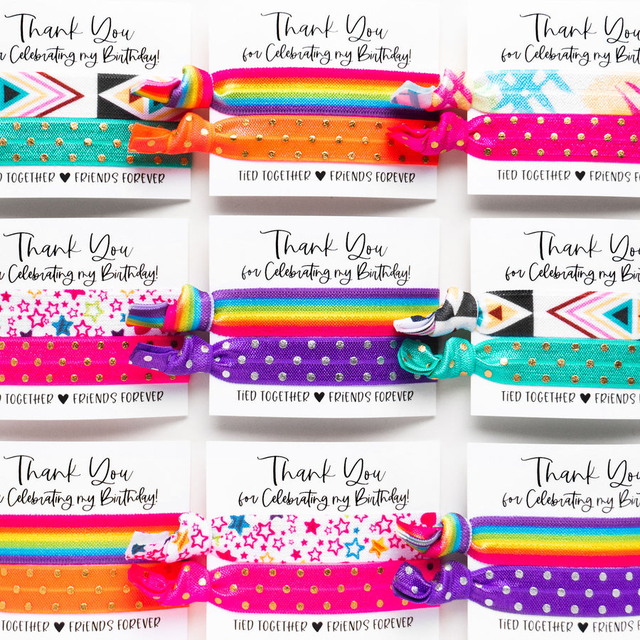 RAINBOW Birthday Party Pack | DIY Hair Tie Favors