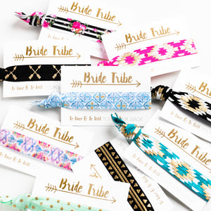 Pack of 10 Favors | Sale Bohemian Bachelorette Hair Ties